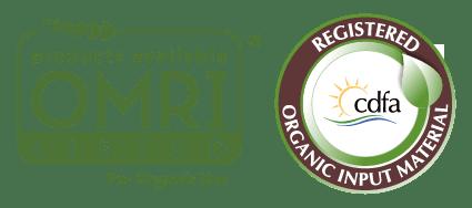 OMRI and CDFA Organic Logos