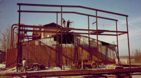 An Old Image of The Supreme Perlite Factory Being Built